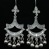 Orientalne kolczyki ze srebra
