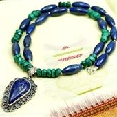 Lapis lazuli i Malachit: Naszyjnik