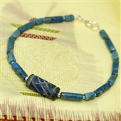 Męska bransoletka lapis lazuli