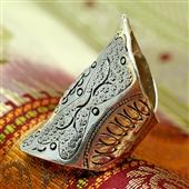 Beduiński duży pierścionek na pół palca