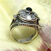 Srebrny pierścionek sekretnik