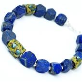 Męska bransoletka lapis lazuli i szkło Murano