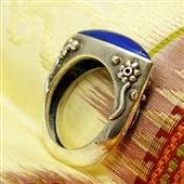 Pierścionek orientalny z lapis lazuli