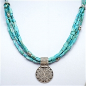 Perski turkus i amulet Siwa