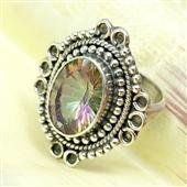 Mystic topaz: Srebrny pierścionek