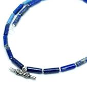 Męski naszyjnik etno z lapis lazuli