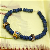 Męska biżuteria: lapis lazuli i szkło Murano