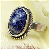 Srebrny pierścionek etniczny lapis lazuli