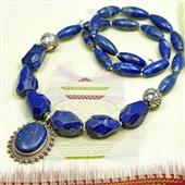 Naszyjnik z wisiorem z lapis lazuli