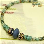Męska biżuteria: turkus afrykański, Murano, lapis