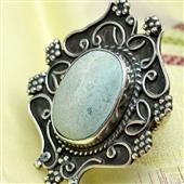 Duży srebrny pierścionek z turkusem