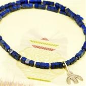 Naszyjnik męski z lapis lazuli z amuletem