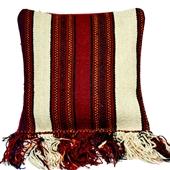 Kilim: Beduińska poduszka z frędzlami III