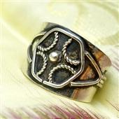 Beduiński srebrny pierścionek