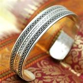 Srebrna zdobiona bransoletka bangla