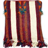 Kilim: Beduińska poduszka z frędzlami I