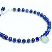Delikatna bransoletka z lapis lazuli