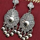 Duże srebrne kolczyki boho