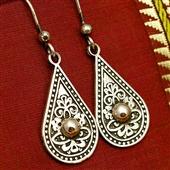 Etniczne srebrne kolczyki