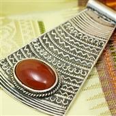 Duży nubijski wisior ze srebra