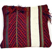 Kilim: Beduińska poduszka z frędzlami IV