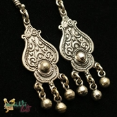 Orientalne srebrne kolczyki