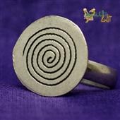 Srebrny pierścionek Spirala