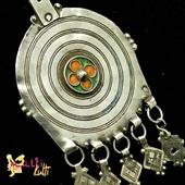 Duży srebrny wisior Berber - spirala