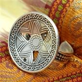 Srebrny pierścionek z gwiazdą