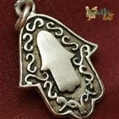 Hamsa: srebrny wisiorek
