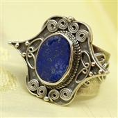 Orientalny pierścionek z lapis lazuli