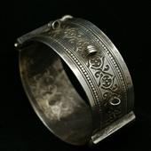 Stara srebrna bransoleta Beduin
