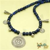 Lapis lazuli - naszyjnik z amuletem