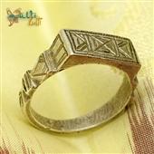 Tuareg: srebrny pierścionek / sygnet plemienny