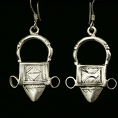 Srebrne kolczyki Tuareg