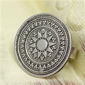 Srebrny pierścionek orientalny Siwa