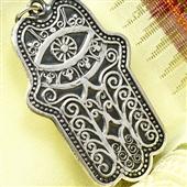 Hamsa: Srebrny wisior, amulet