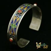 Srebrna emaliowana bransoletka z Maroka